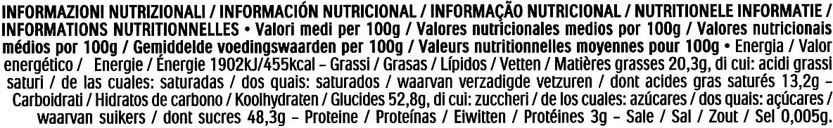 Mon Chéri - Informations nutritionnelles