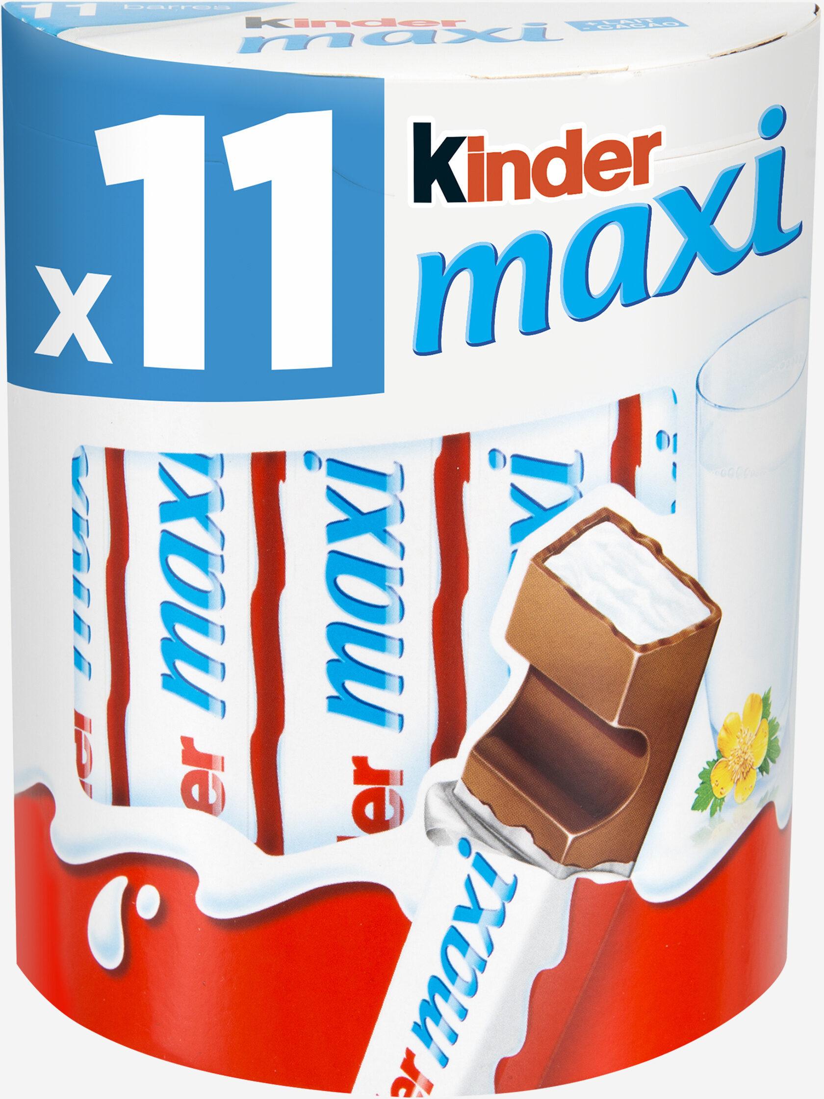 Kinder maxi barre chocolat au lait avec fourrage au lait 11 barres - Product - fr