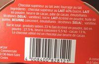 Kinder maxi barre chocolat au lait avec fourrage au lait 11 barres - Ingredients - fr