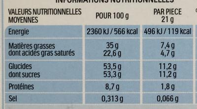 Kinder maxi barre chocolat au lait avec fourrage au lait 11 barres - Nutrition facts - fr