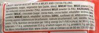 Happy Hippo Biscuit - Valori nutrizionali - en