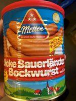 Dicke Sauerländer Bockwurst - Produit - fr