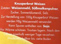 Knäcke Goldweizen - Ingrédients - fr