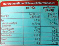Knäcke Goldweizen - Informations nutritionnelles - de