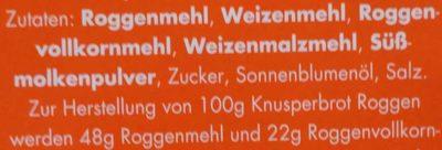 Leicht & Cross Roggen - Ingredients - de