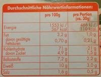 Leicht & Cross Roggen - Nutrition facts - de