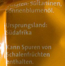 Sultaninen ungeschwefelt - Ingrédients - de