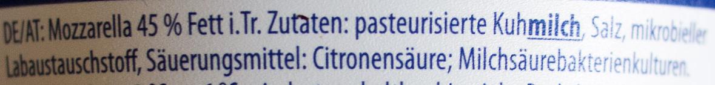 Bambini Mozzarella - Ingredienti - de