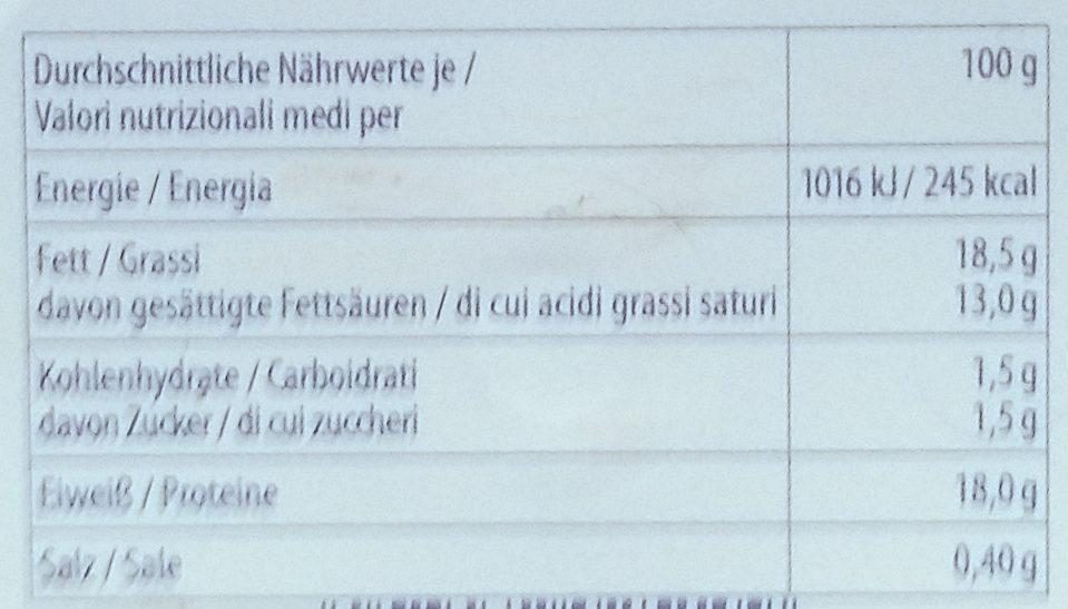Bambini Mozzarella - Valori nutrizionali - de