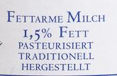 Fettarme Milch - Ingredienti - de