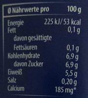 Joghurt mild 0,1% Fett - Nutrition facts - de