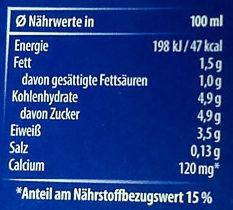 Haltbare Milch 1,5% Fett - Nährwertangaben - de