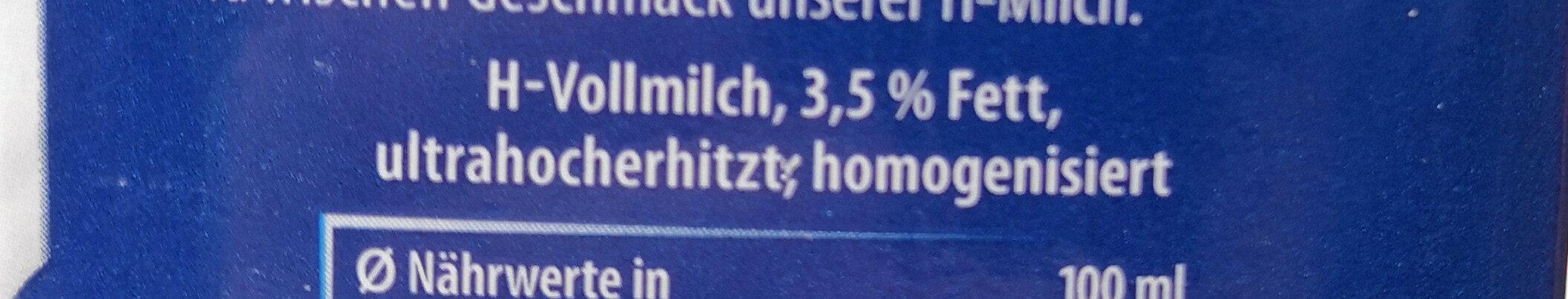 Haltbare Milch  3,5% - Zutaten - de