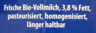 Bio Frischmilch - Zutaten - de