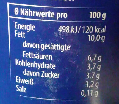 Rahmjoghurt mild 10% Fett - Nutrition facts