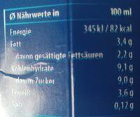Weihenstephan Frischer Kakao 3,5% Fett - Nährwertangaben - de