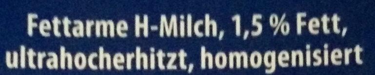 Alpenmilch, Haltbar, 1,5 % Fett , 0,5 L, 1.5 % Fett - Zutaten - de