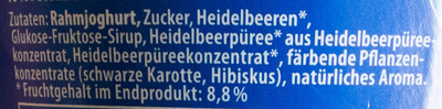 Rahmjoghurt Heidelbeere - Ingredients - de