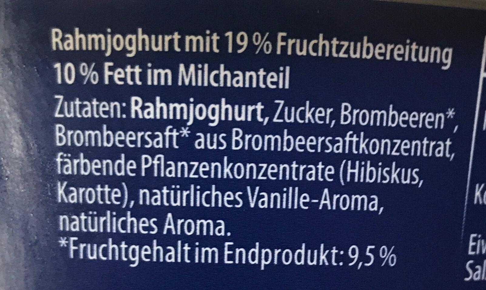 Rahmjoghurt Typ Brombeere-Bayerisch Creme - Ingredients - de