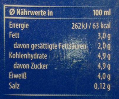 Barista Milch 3% - Nährwertangaben - de