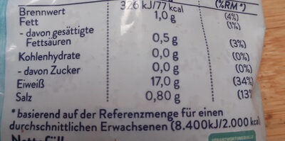 Garnelen - Nutrition facts - de