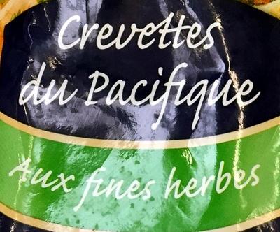 Crevettes du pacifique aux fines herbes surgelées - Ingrédients