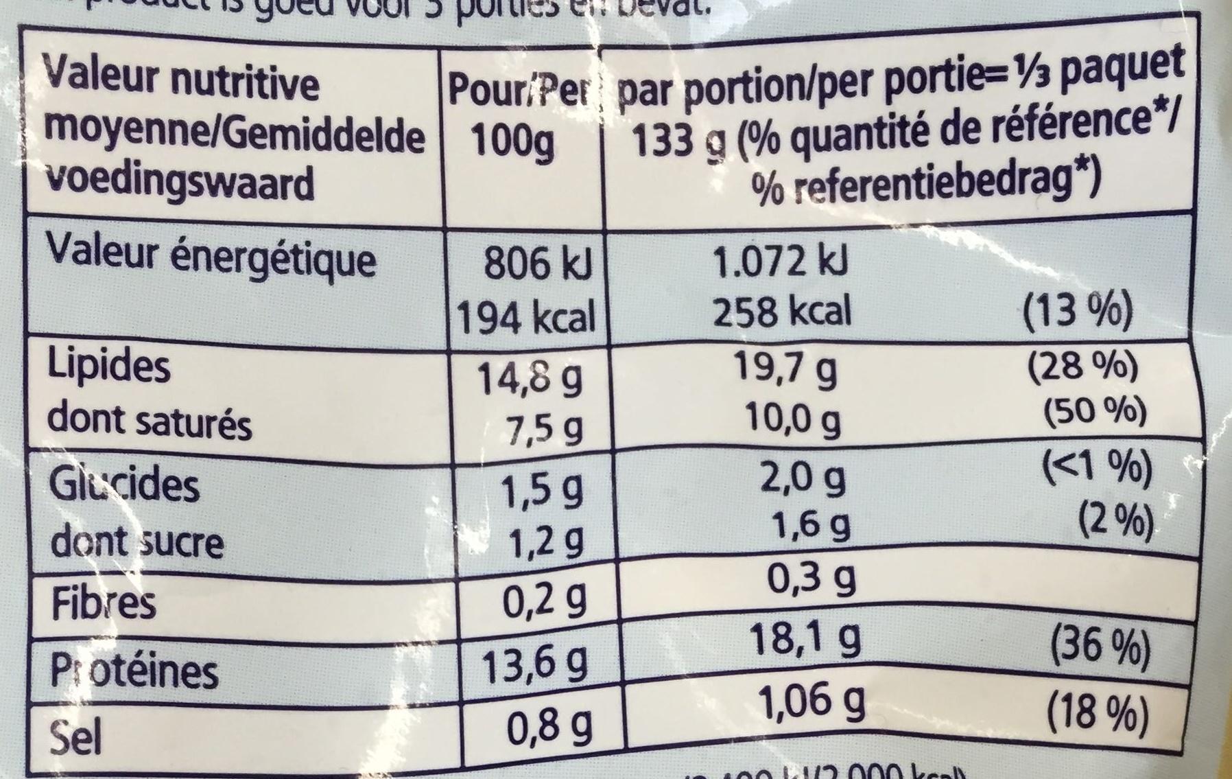 Crevettes du pacifique aux fines herbes surgelées - Informations nutritionnelles