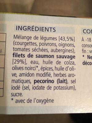 Filet de saumon sauvage - Ingredients