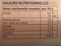 Filet de saumon sauvage - Nutrition facts - fr