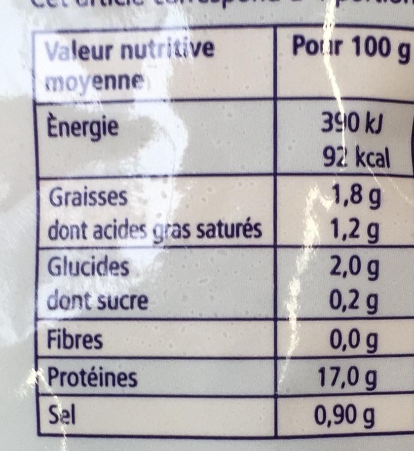 Frutti di Mare Sélection - Informations nutritionnelles