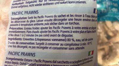 Pacific prawns - Ingredients