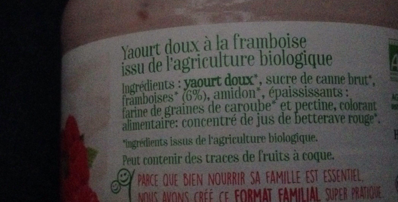 Le brassé onctueux framboise - Ingrediënten