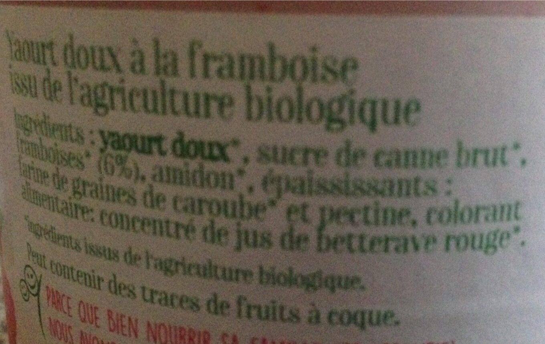 Le brassé onctueux framboise - Voedigswaarden