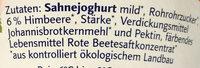 Sahne Joghurt Himbeere - Inhaltsstoffe