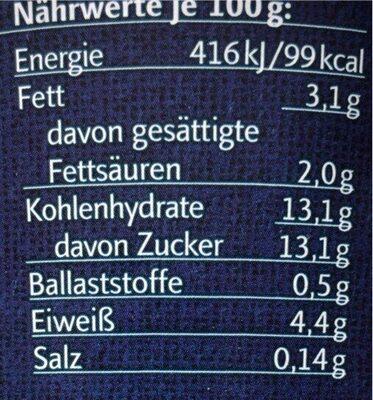 Blaubeere Joghurt - Nährwertangaben - de