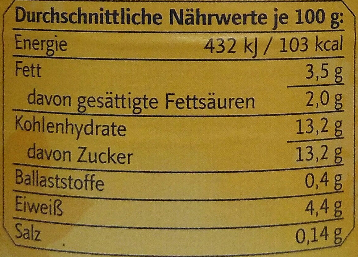 Bio Feige-Walnuss Joghurt mild - Nutrition facts - de