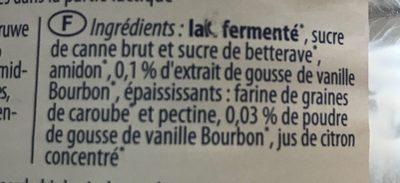 Bio - Vanille - Joghurt mild - Ingrédients