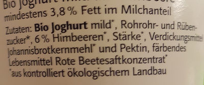 BioJoghurt Himbeere - Ingredients