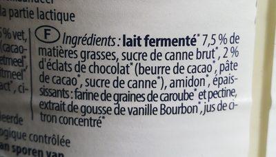 Joghurt Mild Stracciatella Bio - Ingredienti - fr