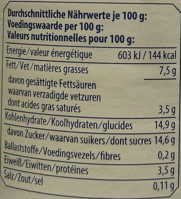 Stracciatella Joghurt mild - Nährwertangaben - de