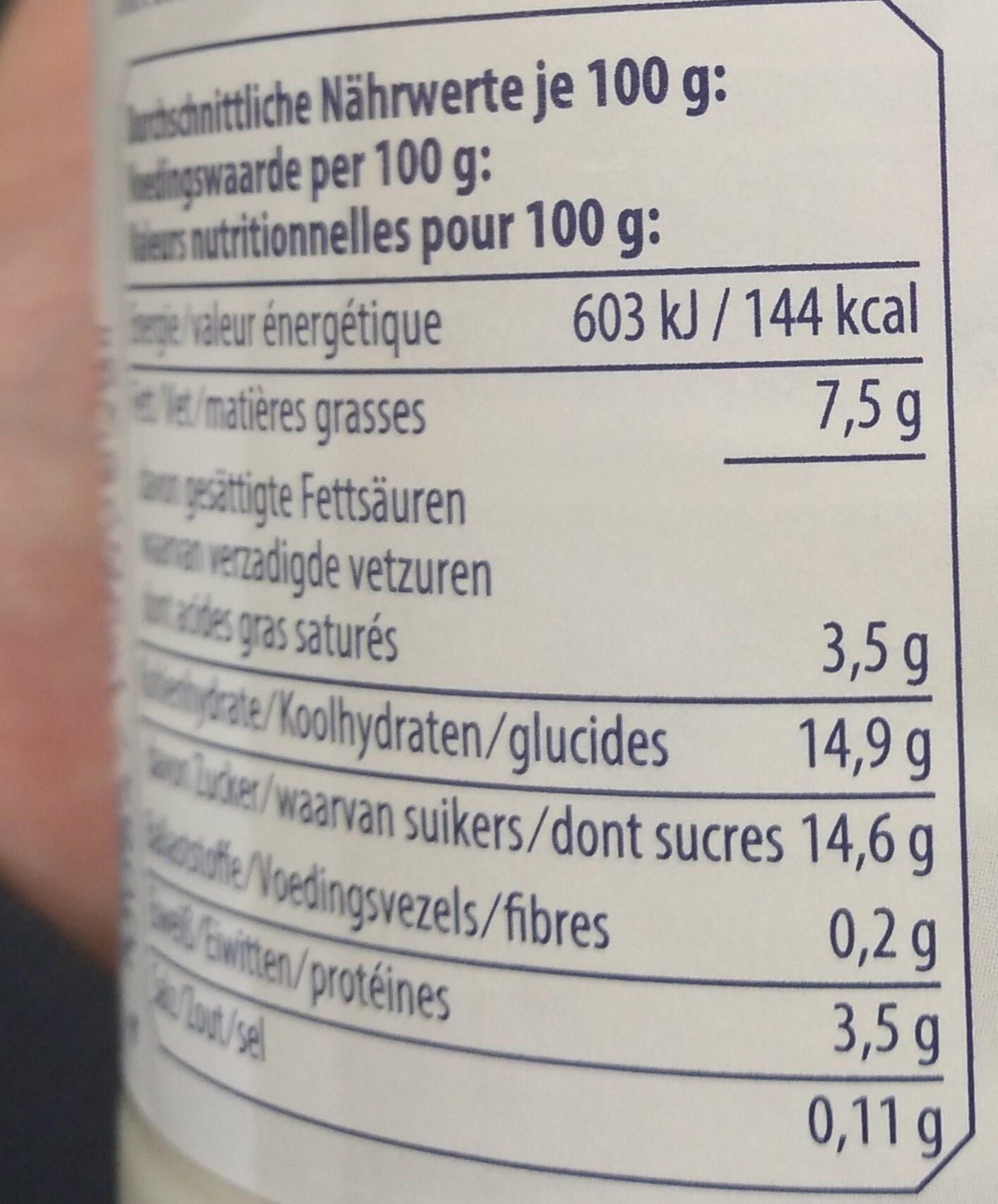 Joghurt Mild Stracciatella Bio - Valori nutrizionali - fr