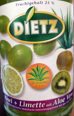 Kiwi + Limette mit Aloe Vera - Produit - de