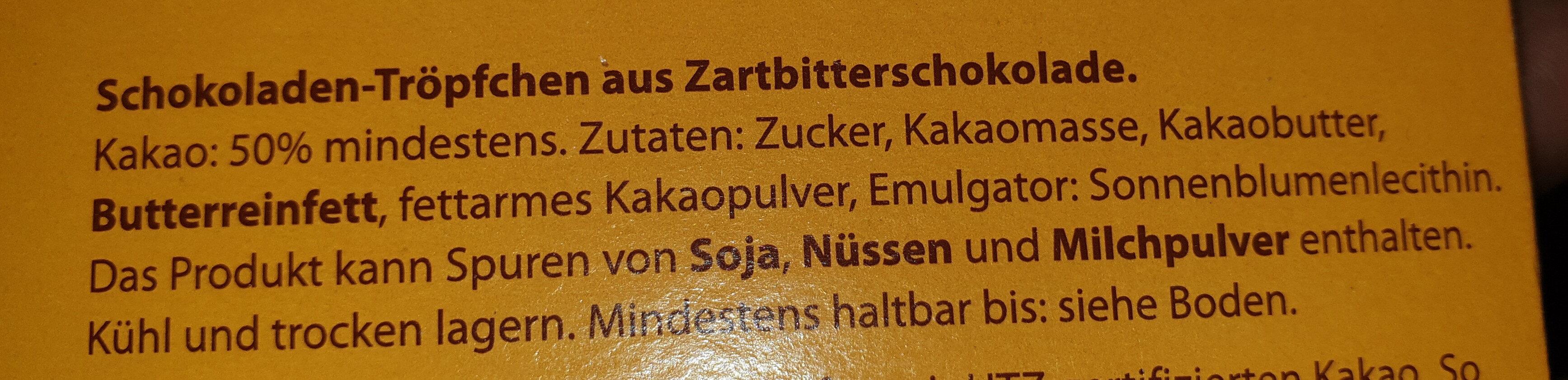Schokoladen-Tröpfchen - Ingredienti - de