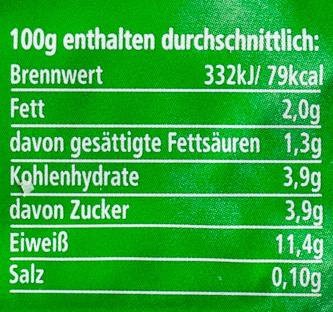 Speisequark - Nährwertangaben