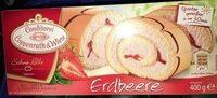 Sahne Rolle Erdbeere - Produkt - de