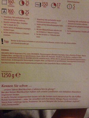 Alt Böhmischer Käsekuchen - Inhaltsstoffe