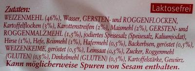 Unsere Goldstücke -  6 Land-Brötchen - Ingrediënten - de