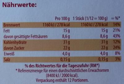 Banana Split - tiefgefroren - Informations nutritionnelles