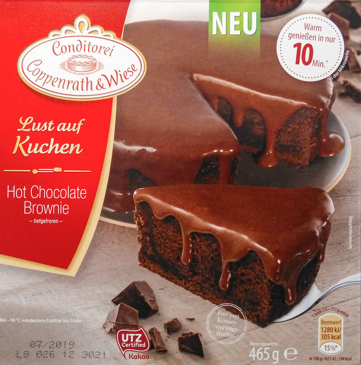 Hot Chocolate Brownie - Product