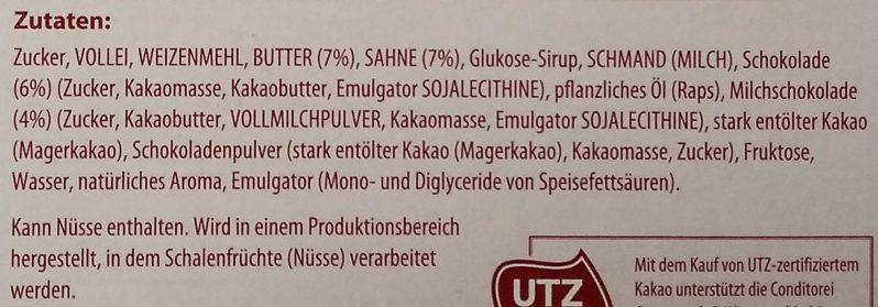 Hot Chocolate Brownie - Ingredients